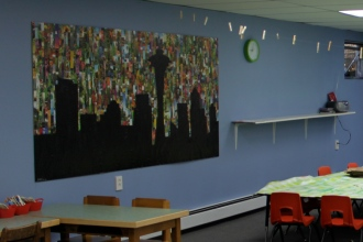 Playroom art by Shorecrest High student